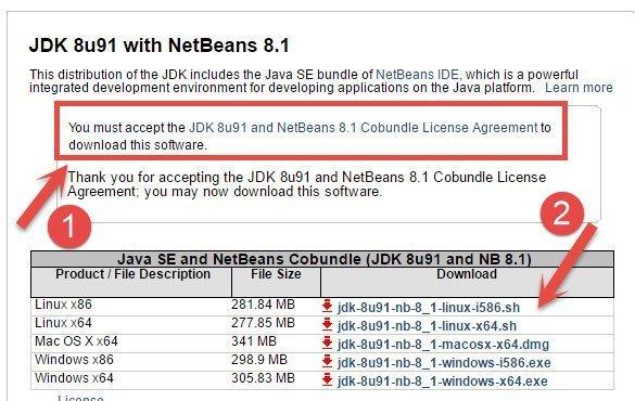 شرح تنصيب و إعداد بيئة الجافا للبرمجة (Netbeans + JDK) في 10