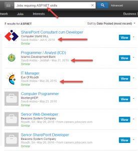 الطلب على لغات البرمجة asp.net