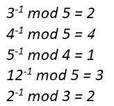 أمثلة لمعكوس العدد