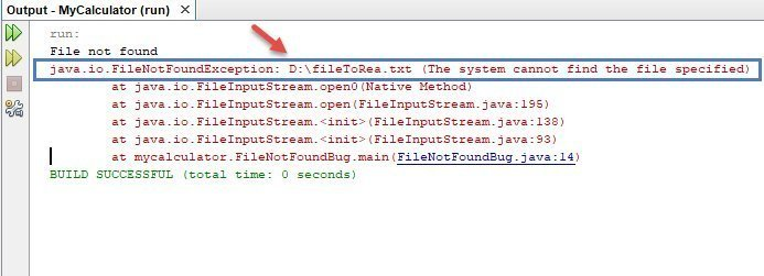 FileNotFoundException - لم يتم إيجاد الملف