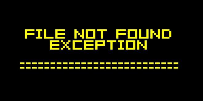Photo of حل مشكلة FileNotFoundException في جافا
